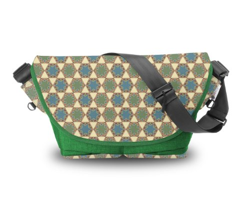 Atrangee Persian Halo Messenger Bag (Green)