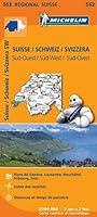 Carte Suisse Sud-Ouest Michelin