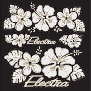 Amazon.com : Electra Bicycle Sticker Set (Hawaii Flower) : Bike Water