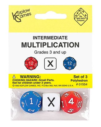 Intermediate Multiplication Dice