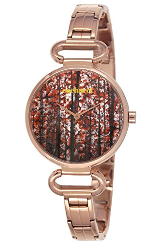 Cacharel CLD 2TM - 051/Women's Watch Analogue Quartz Strap Red Dial Plated Steel Pink