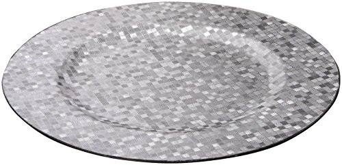 Charge It by Jay Silver Mosaic Round Charger Plate