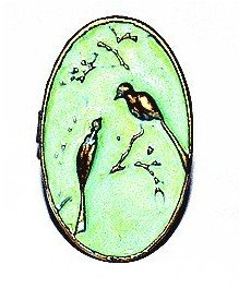 JE204 Vogelbeobachtung Ring, Naturliebende Ring, Vögel Twin Ring, Morgen Anruf Ring