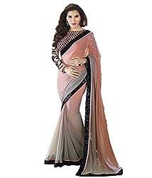 Z Hot Fashion Women's Printed Border work Saree In Chiffon Fabric (ZHKN1034) ...