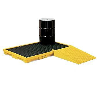 "Eagle 1688 Polyethylene Low Profile Spill Containment Platform, 8 Drum, 102"" Length x 51-1/2"" Width x 6-1/2"" Height, 90 Gallon Capacity"