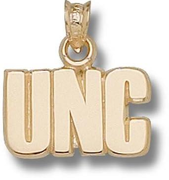 North Carolina Tar Heels UNC 3 8 Pendant - 14KT Gold Jewelry by Logo Art