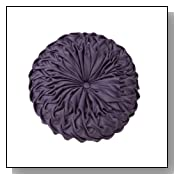 Solid Purple Round Origami Pillow