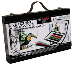 Royal Travel Easy Wood Box Sketching & Drawing Artist Set