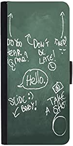 Snoogg Everything Graphic Snap On Hard Back Leather + Pc Flip Cover Samsung G...