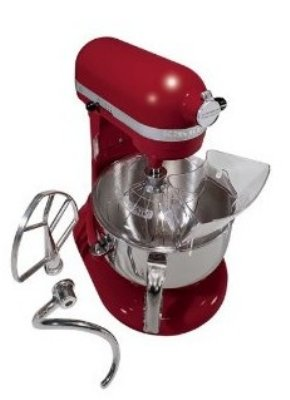 KitchenAid KP26M1XER Professional 600 Series Mixer With Pouring Shield, 6 Qt, Empire Red, Each Promo Offer