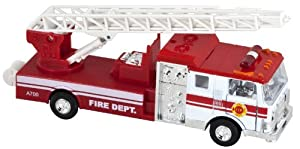 Lights & Sounds Fire Truck Pullback - White