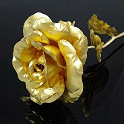 24K 6-Inch Gold Foil Rose - Best Valentines Day Gifts