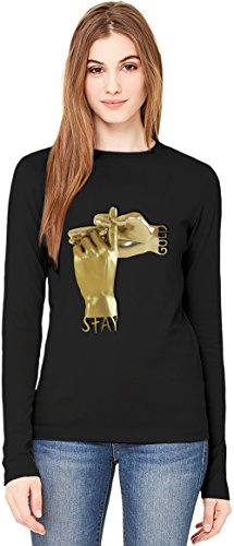 stay gold hand job T-Shirt da Donna a Maniche Lunghe Long-Sleeve T-shirt For Women  100% Premium Cotton  DTG Printing  XX-Large