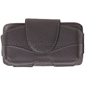 iPhone 4 4s Leather Case Belt Clip Holster Side Cover Pouch OEM Verizon Black [Retail Packaging]