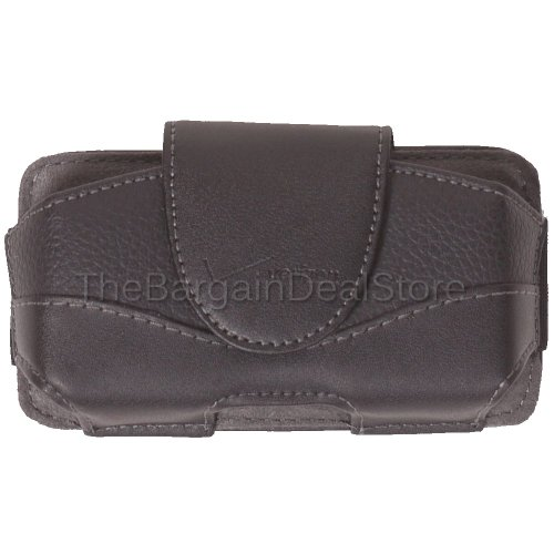 iPhone 4 4s Leather Case Belt Clip Holster Side Cover Pouch OEM Verizon Black [Retail Packaging] (Iphone 4s Case And Clip compare prices)
