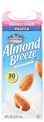 Blue Diamond Non Dairy Almond Milk, Vanilla Unsweetened, 8 oz from Blue Diamond Almond Breeze