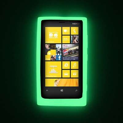 Empire Flexible Silicone Skin Glow in the Dark Green Case for Nokia Lumia 920 from Empire