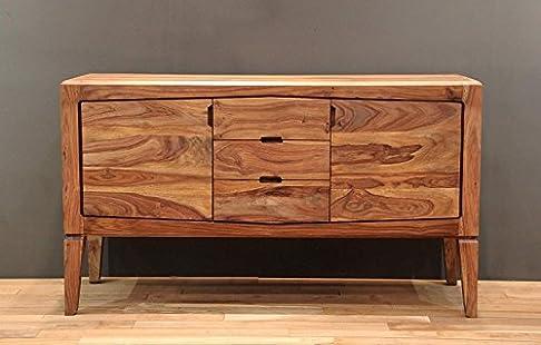 legno massello Sheesham massiccio MOBILI laccato CREDENZA palissandro mobili in legno massello marrone ANCONA #106