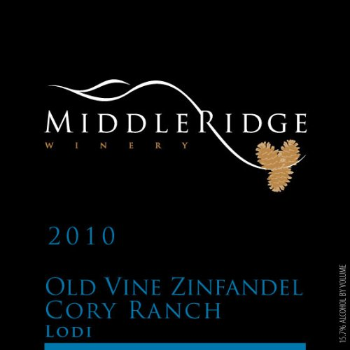 2010 Middle Ridge Winery Old Vines Zinfandel Cory Ranch Lodi 750 Ml