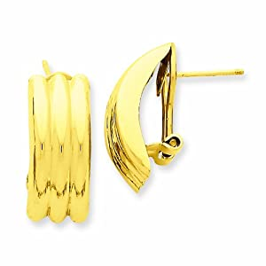 14K Omega Post Earrings