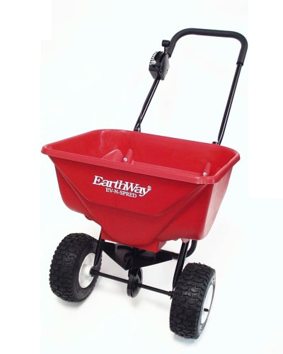 New Earthway 2030PPlus Deluxe Lawn & Garden Spreader with 9-Inch Pneumatic Wheels