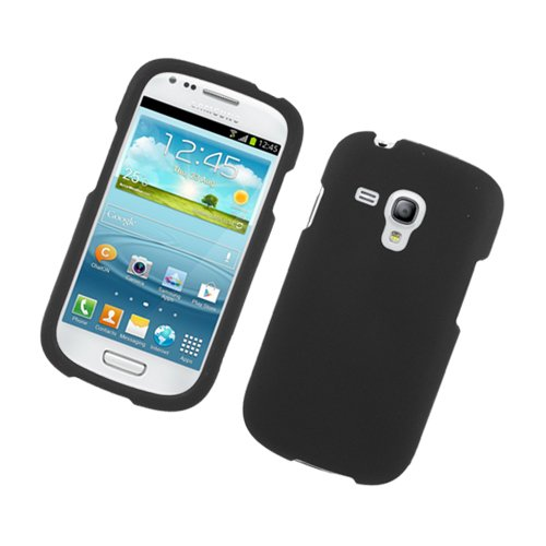 Generic Rubberized Protector Cover Case for Samsung Galaxy S3 Mini - Retail Packaging - Black (Phone Case Samsung Galaxy S3 Mini compare prices)