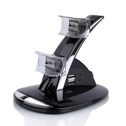 Quality New Led Dual Controller Charger Dock Station Stand Charging For Playstation Ps3