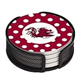 5 Piece University of South Carolina Dots Collegiate Coaster Gift Set at Amazon.com