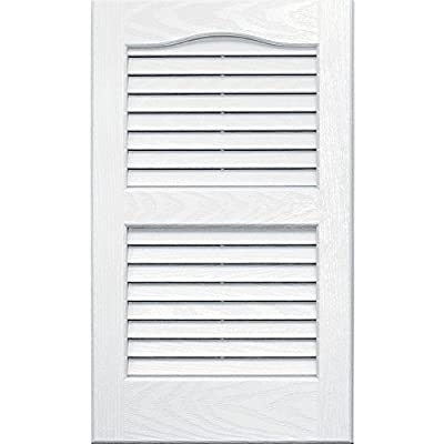 Vantage 0114024123 14X24 Louver Arch Shutter/Pair 123, White from The TAPCO Group - DROPSHIP