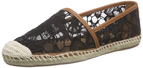 Buffalo London125508 RENDA VEGETAL - Espadrillas Donna , Nero (Schwarz (BLACK938)), 36