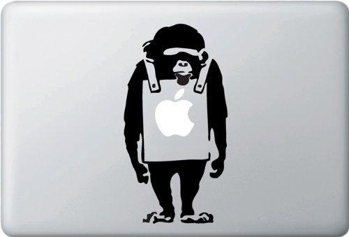 MacBook 対応 アートステッカー - The Placard Chimp - 【並行輸入品】