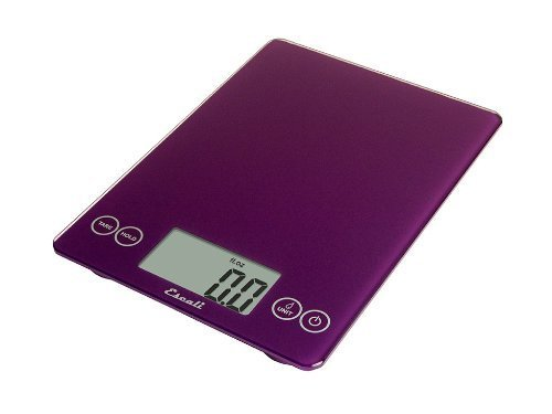 Escali 157DP Arti Glass Digital Kitchen Scale 15Lb/7Kg, Deep Purple by Escali