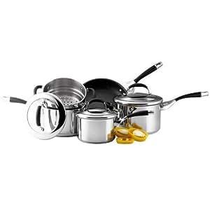 Circulon Steel Elite Stainless Steel Cookware Saucepan Set, 5 Piece
