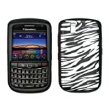 Premium Zebra Silicone Gel Skin Cover Case for Blackberry Tour 9630 / 9650 Bold