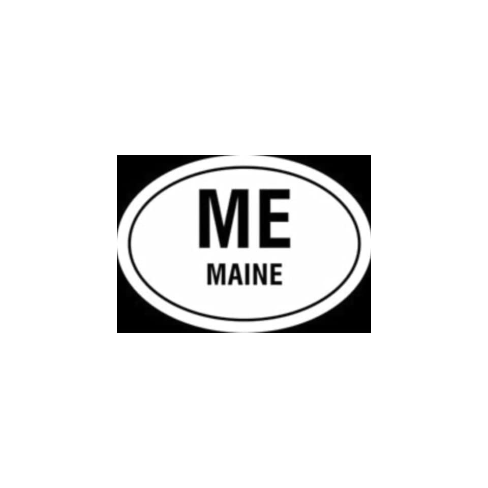 Maine state Euro oval vinyl window decal.