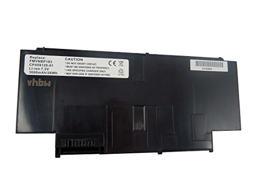vhbw Li-Ion Batterie 3600mAh (7.2V) pour ordinateur portable, Notebook Fujitsu FMV-BIBLO LOOX UG90G, FMV-BIBLO LOOX UG90R comme FMVNBP183.