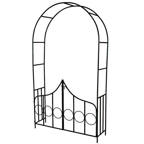 TecTake Arco giardino in ferro per rampicanti Arco per rosa decorationi con porta