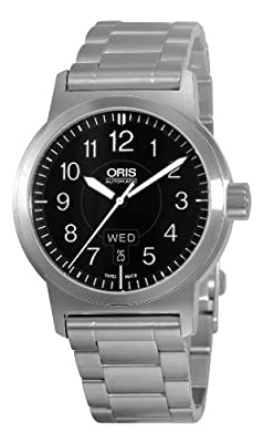 Oris Men's 73576404164MB BC3 Sportsman Day Date Stainless Steel Bracelet Watch