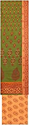 Payal Collection's Women's Cotton Unstitched Salwar (Green)