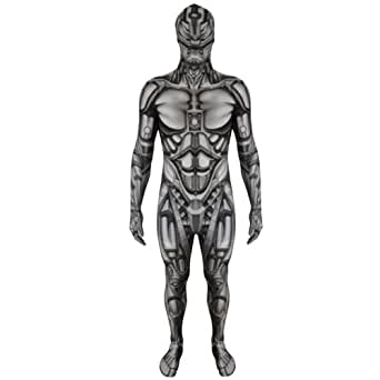 adult unisex android robot monster halloween fancy dress costume morphsuit medium