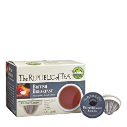 The Republic Of Tea British Breakfast Black Tea Single Serve For Keurig Brewers - 24 Count by The Republic Of Tea