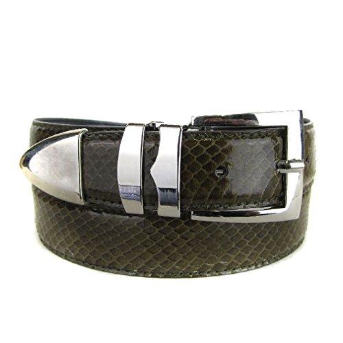 Bltby-Snks-14-20 - Olive - Boys Snake Skin Bonded Leather Belt