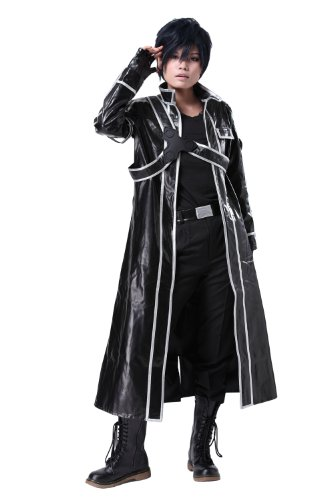 Kirito Cosplay Costume Outfits for Anime SAO Sword Art Online Cosplay 2014