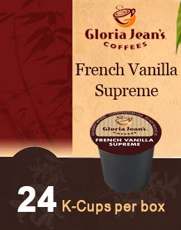 Gloria Jean's Coffees FRENCH VANILLA SUPREME -- 1 Box of 24 K-Cups for Keurig Brewers