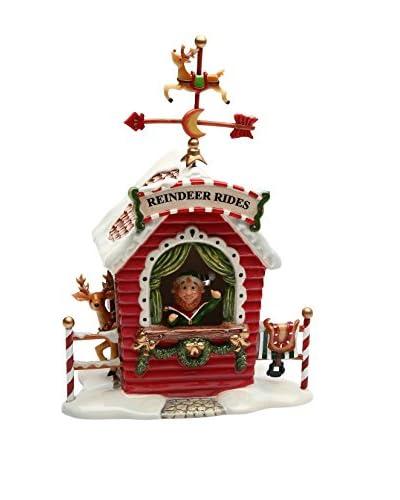 Cosmos Santa's Village Ceramic Musical Figurine