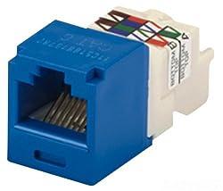 Panduit CJ688TPBU Category-6 8-Wire TP-Style Jack Module, Blue, 4-Pair