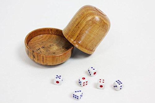 【木製】丁半 半丁 サイコロゲーム 丁半カップ ダイス6個付 ST-6268