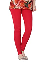 Tulip Collections Premium Rayon Leggings Collection Red_Free Size