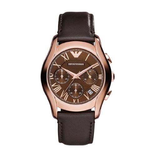 Emporio Armani AR1707 - Reloj de pulsera unisex, piel, color marrón