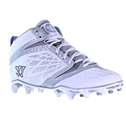 BURN6MWT BY WARRIOR NEW ADULT MENS LACROSSE WHITE BLACK GRAY US MENS 9D